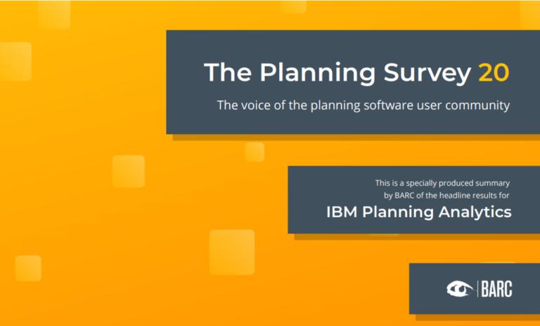 BARC Survey 2020 – IBM Planning Analytics